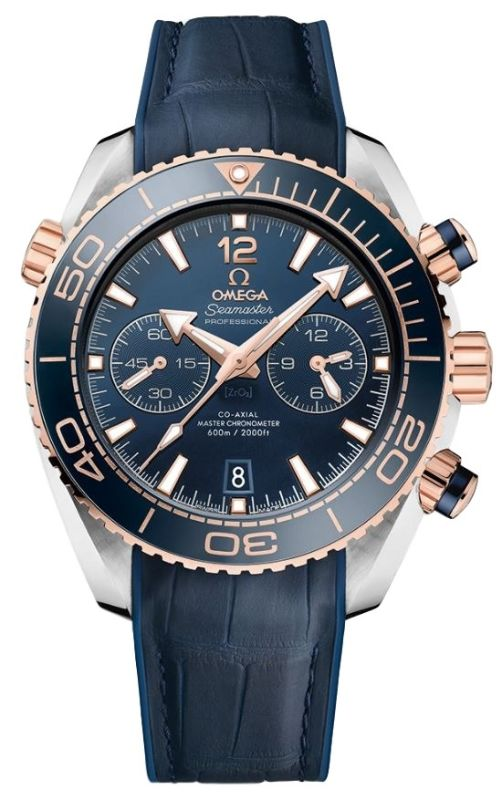 cc25f02eec3 Omega Seamaster Planet Ocean 600M Chronograph 45.5mm Sedna Gold Blue Dial  Men s Watch 215.23.46.51.03.001