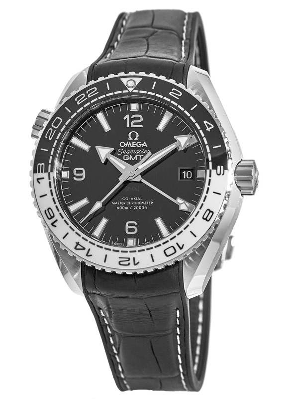 Omega Seamaster Planet Ocean 600M GMT Steel on Leather Strap Men s Watch  215.33.44.22. 9dd0be20b6