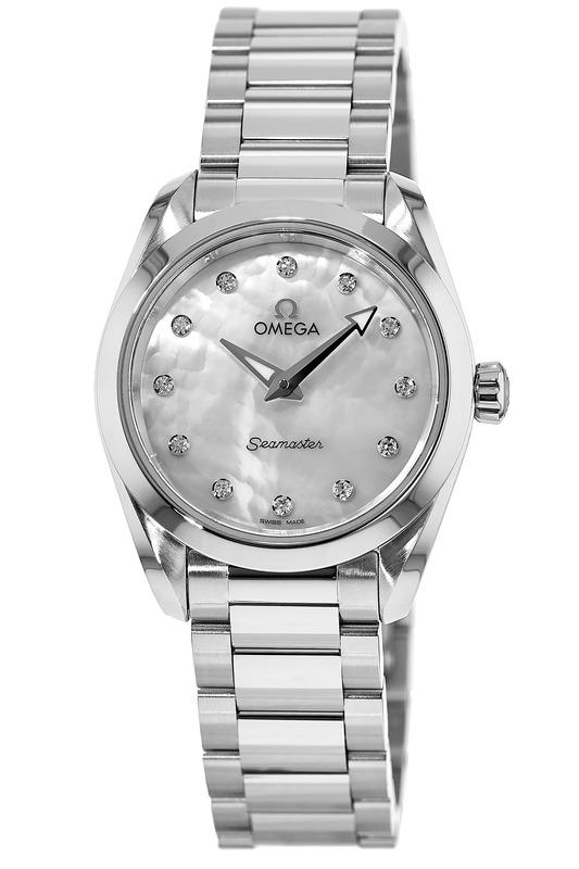 Omega Seamaster Aqua Terra 150M Quartz 28 MM Mother of Pearl Diamond Dial  Stainless Steel Women s Watch 220.10.28.60.55.001 b61df8f4e3