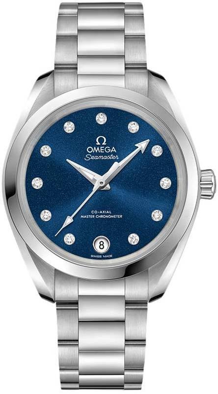 Omega Seamaster Aqua Terra 150m Master Co-Axial Chronometer 34 MM Blue Dial  Stainless Steel Women s Watch 220.10.34.20.53.001 6e434d1822
