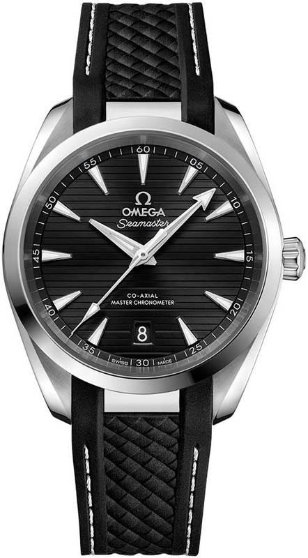 e31e25028f2 Omega Seamaster Aqua Terra 150m Master Co-Axial Chronometer 38 MM Black  Dial Black Rubber Men s Watch 220.12.38.20.01.001