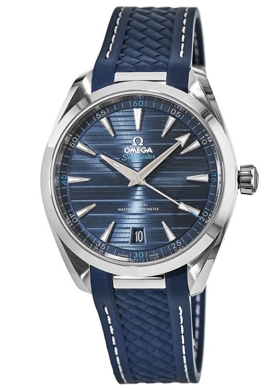 74e1dc24040 Omega Seamaster Aqua Terra 150m Master Co-Axial Blue Dial Blue Rubber Men s  Watch 220.12.41.21.03.001
