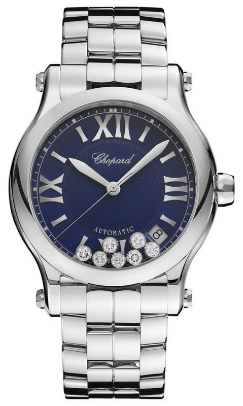 34f8d258a4de0 Chopard Happy Sport Medium Automatic 36mm Blue Women s Watch 278559-3009