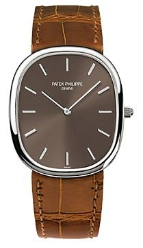 Patek Philippe Golden Ellipse White Gold Mens Watch 3738-100G