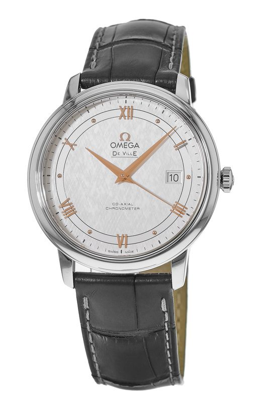 18a7a69dd38 Omega De Ville Prestige Co-Axial 39.5mm Grey Leather Men s Watch  424.13.40.20.02.005