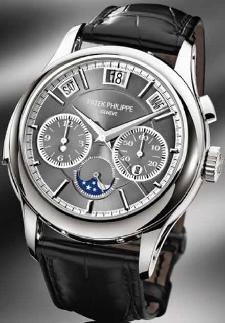 thomas earnshaw es automatic grand silver watch watches calendar amp black leather s mens image men