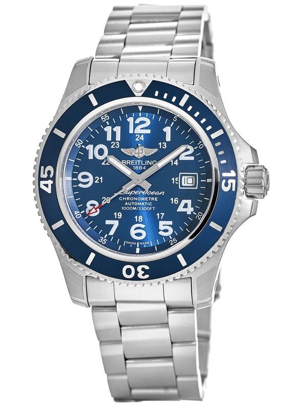 f0b816afcd0 Breitling Superocean II 44 Blue Arabic Dial Automatic Steel Men s Watch  A17392D8 C910-162A