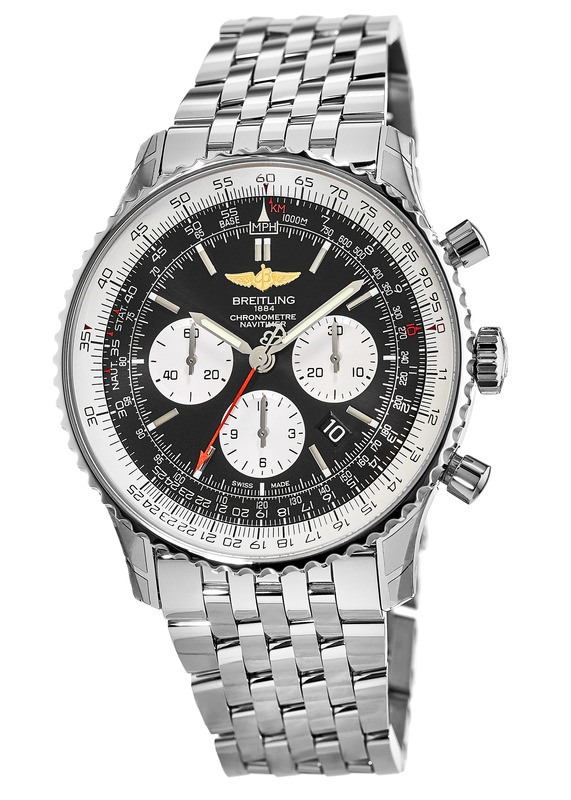 Breitling Navitimer 01 46mm Black Chronograph Dial Automatic Steel Men S Watch Ab012721 Bd09