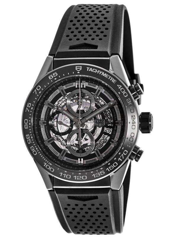 Tag Carrera Watch >> Tag Heuer Carrera Calibre Heuer 01 Skeleton Dial Black Ceramic Men S Watch Car2a90 Ft6071