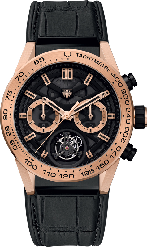 Tag Heuer Carrera Tourbillon Automatic Chronograph Black And Rose Gold Skeleton Dial Men S Watch Car5a5z Fc6377