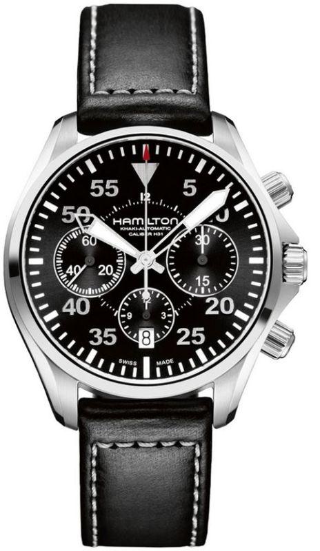 Hamilton H64666735 Khaki Aviation Pilot Auto Chrono Men s Watch ... 154d4e3615