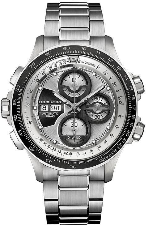 Hamilton H77726151 Khaki Aviation X-Wind Auto Chrono Le Men s Watch ... 4d2a3447daf3