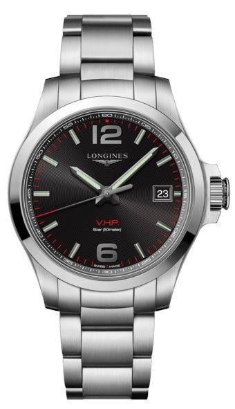 Longines Conquest V.H.P. Stainless Steel Black Dial Men s Watch  L3.716.4.56.6 490d42b6d55