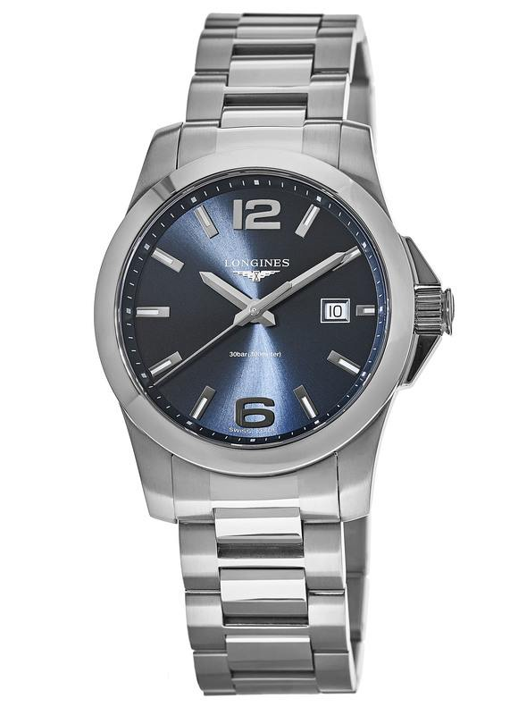Longines Conquest Quartz Blue Dial Stainless Steel Men s Watch L3.759.4.96.6 e2aa6feda9f