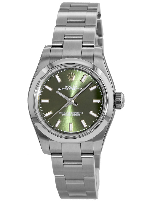 Rolex Oyster Perpetual No-Date Olive Green Dial Women s Watch M176200-0014 4dc4bca3c3