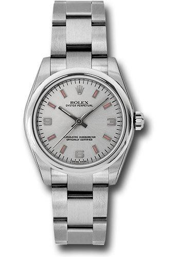 Rolex Oyster Perpetual No-Date Silver Dial Women s Watch M177200-0009 ce5666de27
