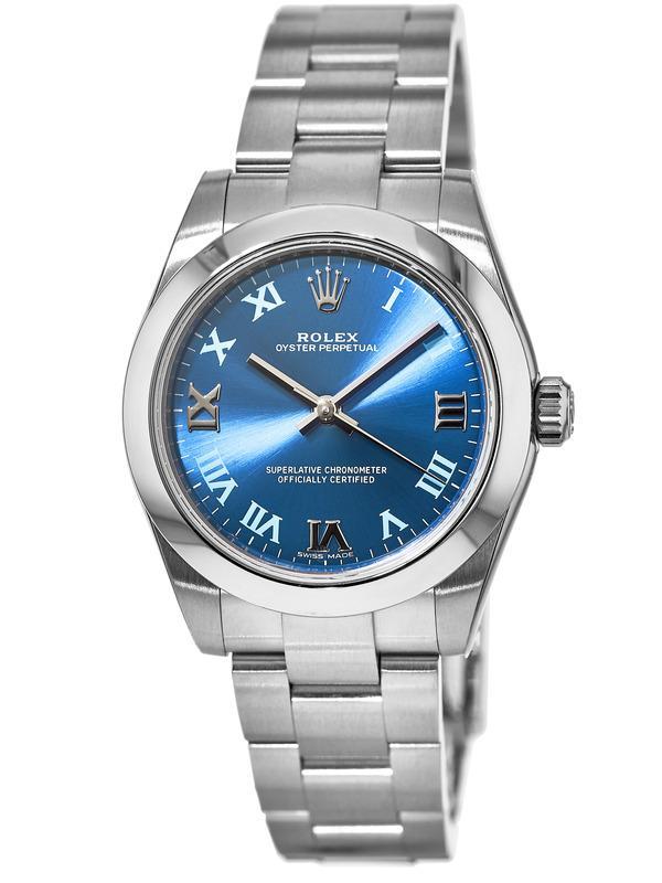 Rolex Oyster Perpetual No-Date Blue Dial Women s Watch M177200-0015 6a13a84164