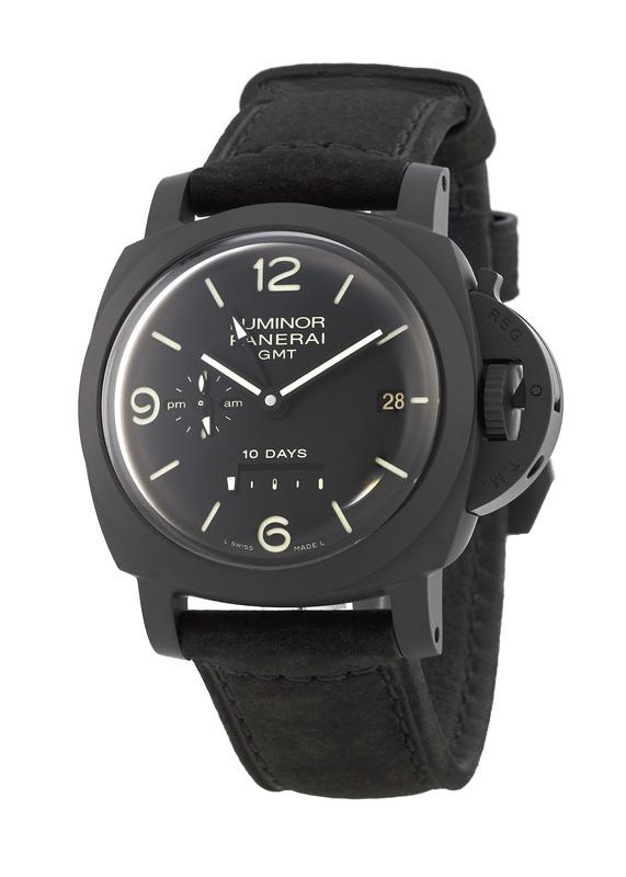d880451301e Panerai Luminor 1950 10 Days Ceramica Black Dial Black Leather Men s Watch  PAM00335
