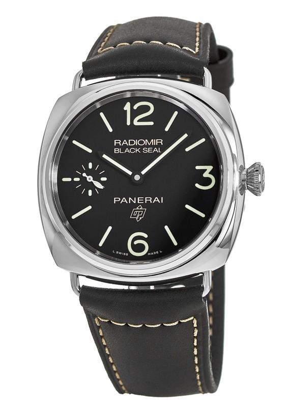 60ff8d1eff83 Panerai Radiomir Black Seal 3 DAYS ACCIAIO - 45MM Black Dial Black leather Men s  Watch PAM00754