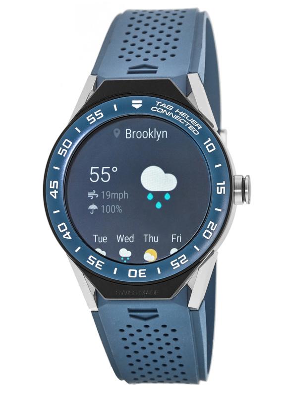 nueva colección 260e6 b6fae Tag Heuer Connected Modular 45mm Smartwatch Blue Sbf8a8012 Model