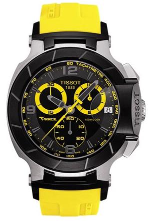 9aef62e9e16 Tissot T-Sport T-Race Chronograph Yellow Men s Watch T048.417.27.057.03