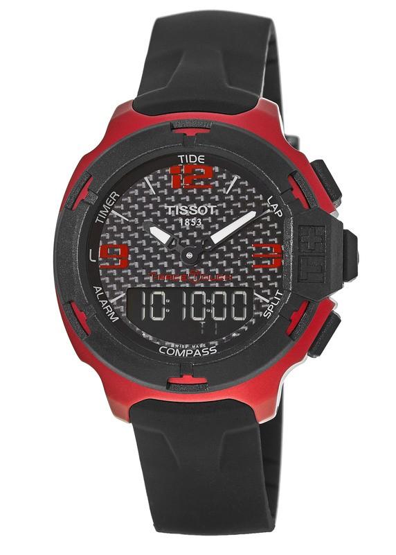 b0bda9ed934 Tissot T-Race Touch Red Aluminum Rubber Strap Men s Watch T081.420.97.207.00