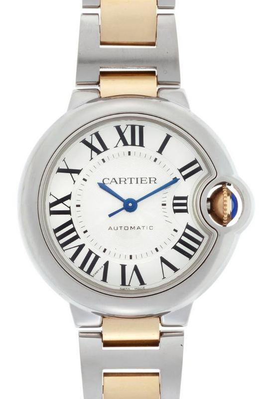 Cartier Ballon Bleu 33mm 18k Yellow Gold   Steel Automatic Women s Watch  W2BB0002 36bda6823451
