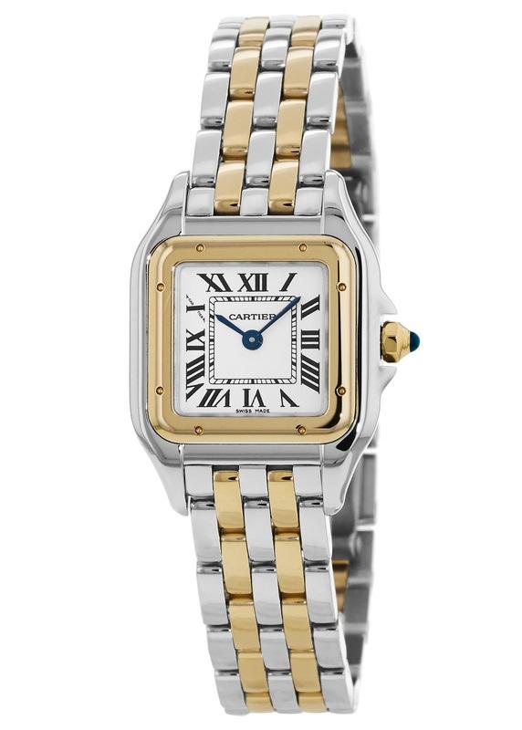 Cartier Panthere de Cartier Small Yellow Gold   Stainless Steel Silver Dial  Women s Watch W2PN0006 896c37de9e1