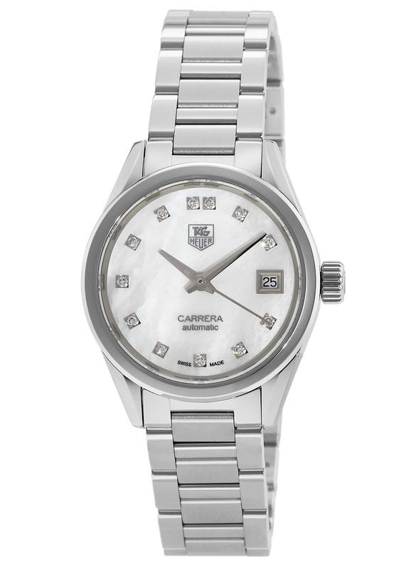 6eb71bd79b60 Tag Heuer Carrera Automatic White Diamond Dial Steel Women s Watch  WAR2414.BA0776